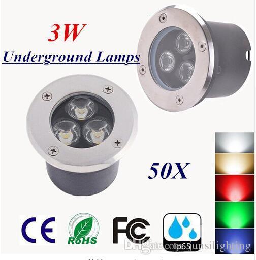 Фабрика прямые продажи Бесплатная доставка 3W LED подземный свет IP65 Похоронен утоплена пол напольный светильник DC12V 24V или AC85-265V