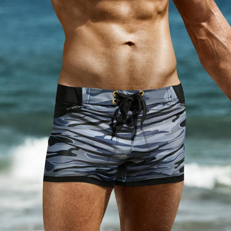 Badeanzug-Badebekleidung Männer maillot de bain Herren Badehose Strand Shorts Badehose Zwembroek Heren Tarnung Männer