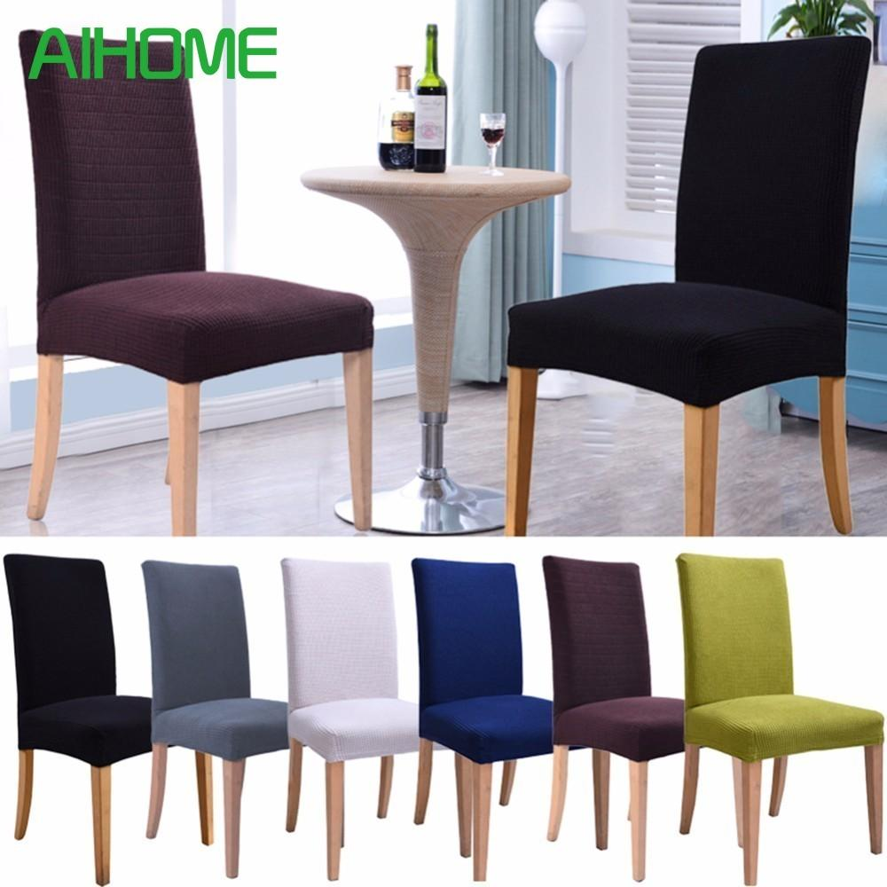 Plaid Polar Fleece Thickened Elastic Chair Covers Slipcovers Antifouling Chair Cover for Wedding Kitchens hotel coffee shops