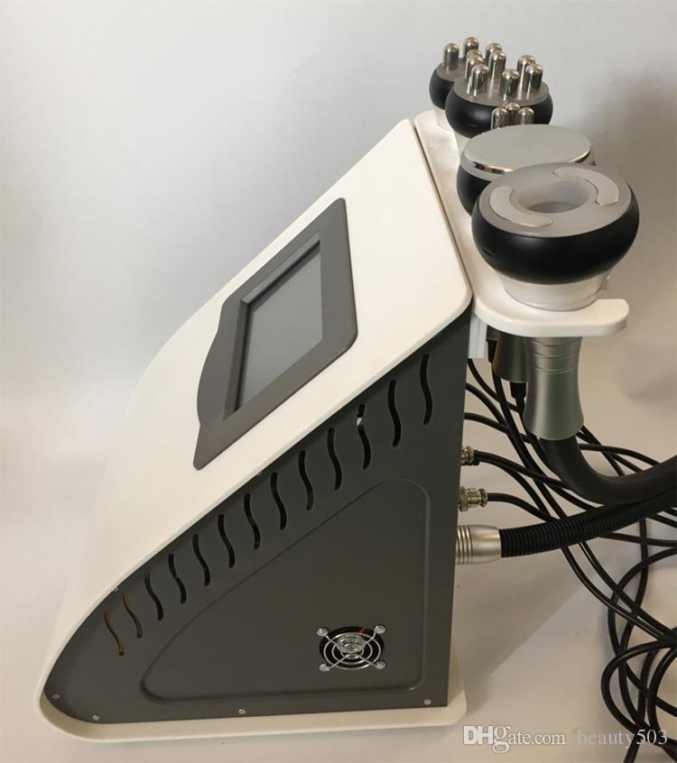 Forte 40K Ultrasonic equipamento cavitação emagrecimento pele do corpo firme elevador vácuo RF multipolar fotões vermelhos 5 na máquina de beleza uma de emagrecimento