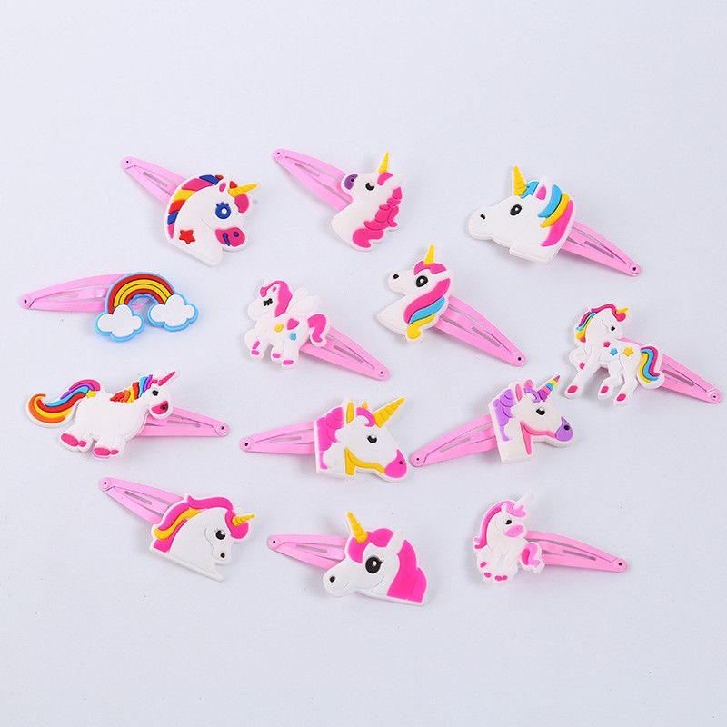 Cute Unicorn ребёнки Hairclips Barrettes мультфильм животных волос Ободки Шпильки Дети Headwear Популярные Стиль Аксессуары для волос Подарки