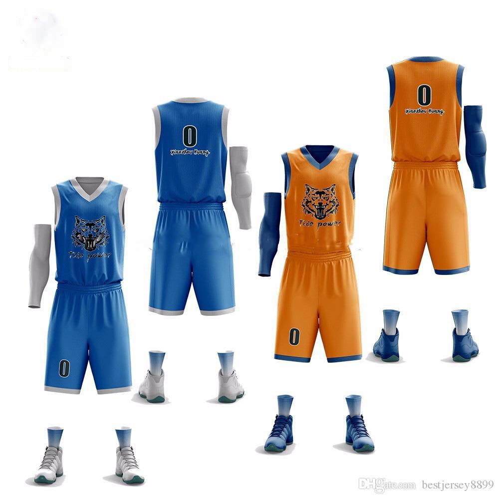 Herren Basketball Trikots Set Sport Kit Trainingsanzüge Kleidung Männer Basketball Uniformen Anzug Quick Dry Team Maßgeschneiderte Druck