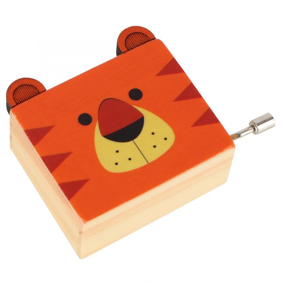 Music Box Bailarina de Natal bonito animal Padrão dos desenhos animados de madeira Crank Mão Music Box Início desktop Decoração Toy presente para crianças