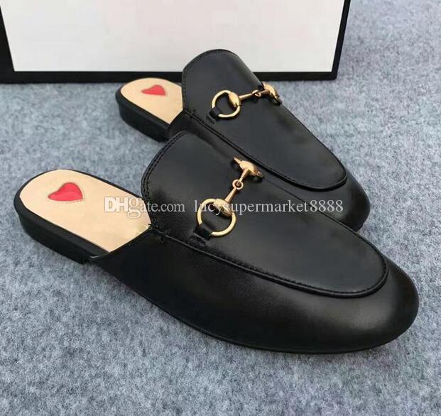 Leder Slipper Casual Frauen Schuhe Wohnungen Slip On Sexy Street Style Damen Schuhe Design Frau Sommer Hausschuhe