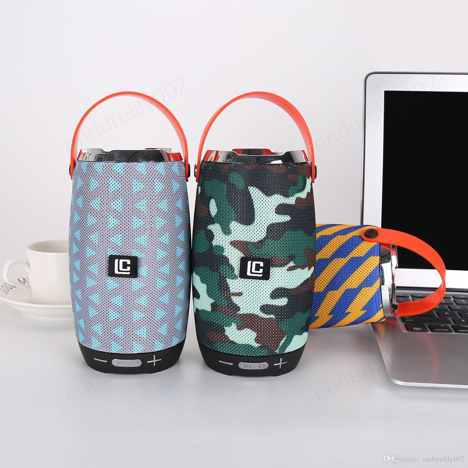 Mini Portable Bluetooth Wireless Speakers Call Play Mic Hands-free Speaker With Handle Big Power Subwoofer Support TF and USB FM Radio