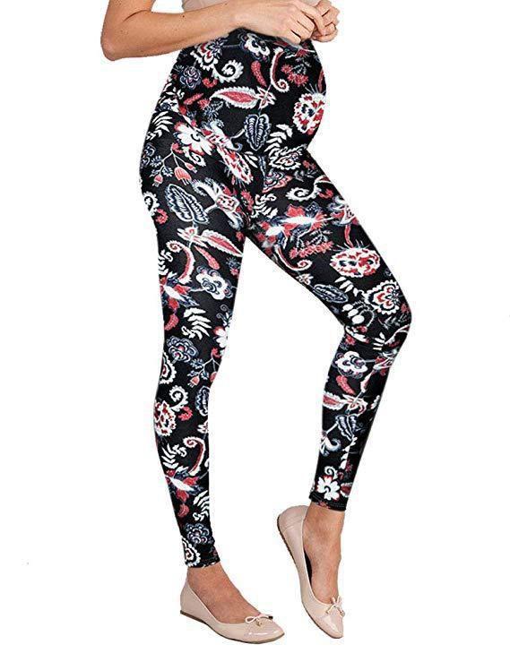 2019 Maternity pants High waist Slim fit Digital printing Pregnancy pants Leggings