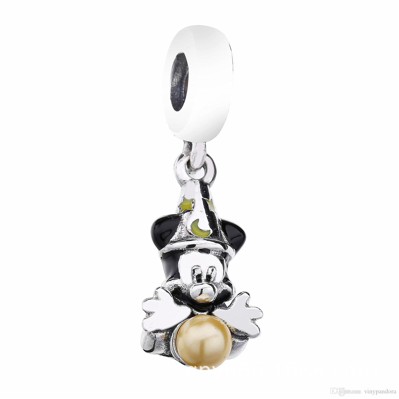 100% argent sterling 925 Sorcerer MK Dangle Charm perle convient aux bracelets de charme bijoux Pandora européenne