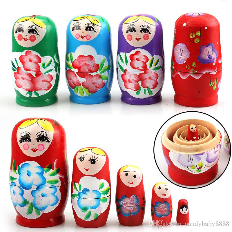 Vintage Wooden Russian Nesting Babushka Matryoshka 15 Dolls Set Hand Painted
