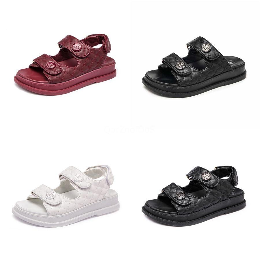 Fairy2020 cristal S009 Año jalea de fresa precioso sandalias del dedo del pie plano del ocio inferior Cemento de zapatos de plástico C03 # 406