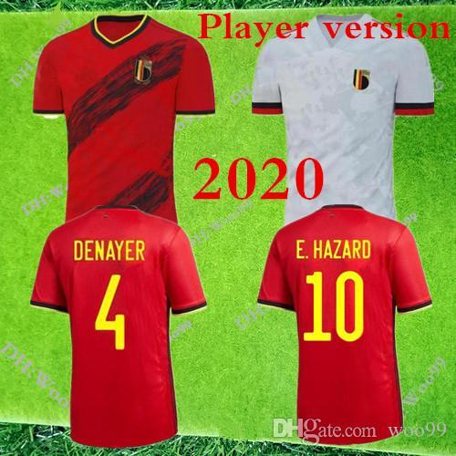 Player versión 2020 Bélgica PELIGRO Lukaku MERTENS fútbol casero Jersey de 2021 Vermaelen De Bruyne Nainggolan equipo nacional de fútbol CAMISA
