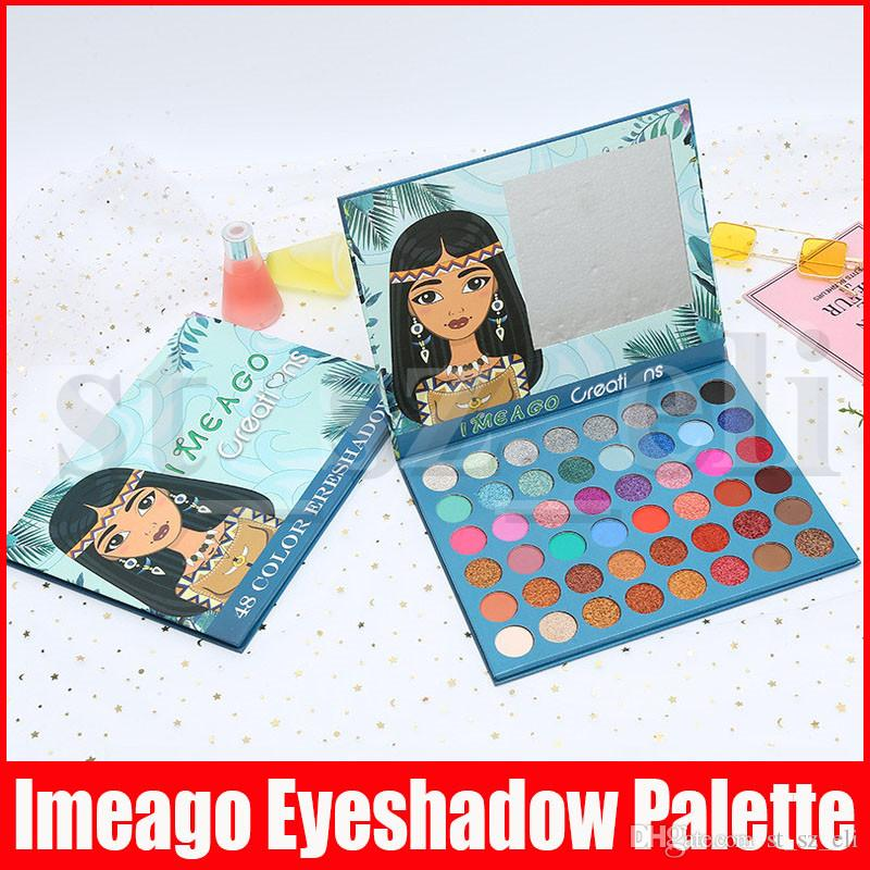 IMEAGO Creations Eye Makeup Shimmer Glitter Matte Eyeshadow Palette 48 color Preseed Pigment Smoky Eye Shadow Palette