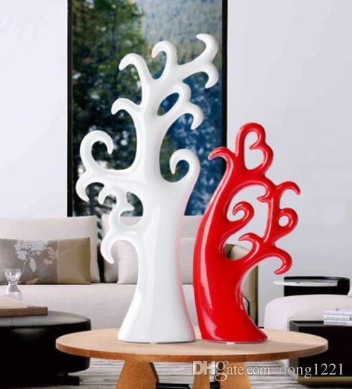 Accessori per la casa, regali personalizzati, ornamenti di moda moderna, soggiorno, artigianato decorativo in ceramica, albero di amore creativo