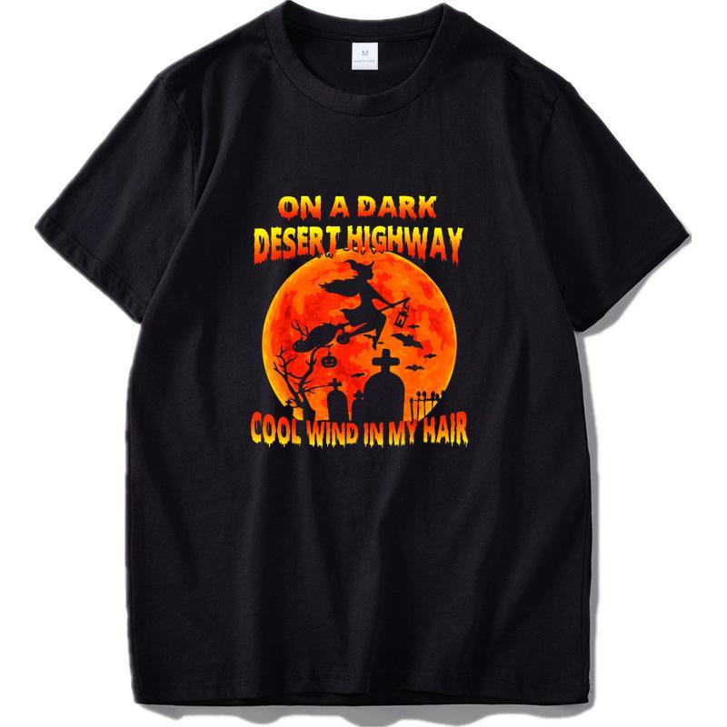 On Dark Desert Highway Sorcière CoolWind Dans MyHair T-shirt Halloween chanson T-shirts 100% coton de haute qualité en tissu respirant T-Hauts