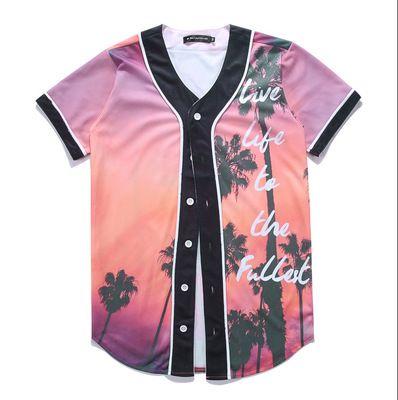 Fashion 3D Men Baseball Shirt Sport Jerseys Good Quality With Button Online Sale 48