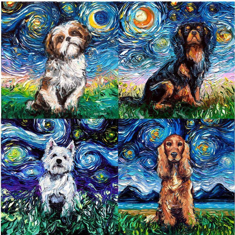 Funny Dog Full Drill DIY 5D Diamond Painting Embroidery Cross Stitch Kits Decor