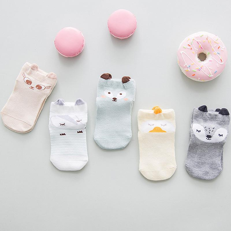 0 ila 24 M Sevimli Hayvan Bebek Çorap Yaz Bebek Örgü Kısa Çorap Yenidoğanlar Ince Penye Pamuk Çorap Erkek Kızlar için