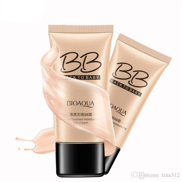 Горячий продавать BIOAOUA Flawless BB Cream Увлажняющий прикрывает голый ремонт макияж Фонд крем нежной гладкой морозостойкость порошок Вода T9F005