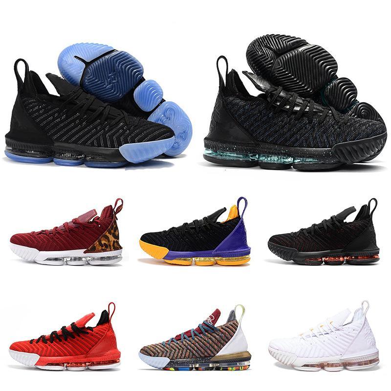 2019 Date Lebron 16 Hommes Chaussures De Basketball James 16 Marque De Mode Sport Baskets Haute Qualité Confortable Basse Coupe Baskets Chaussures Taille 7-13