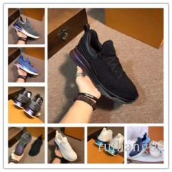 Новый дизайнер имя бренд человек Повседневная обувь на плоской подошве Kanye West мода морщинистая кожа на шнуровке высокие топовые кроссовки Runaway Arena Shoes am058