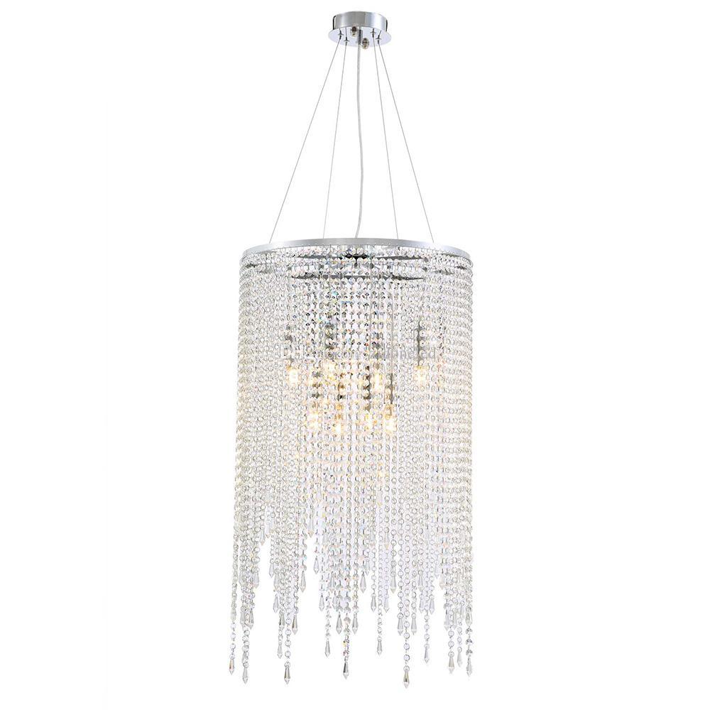 """Lustres ronds linéaires modernes île lustre en cristal pendentif lampe luminaire pour cuisine salle à manger cuisine D 20 """""""