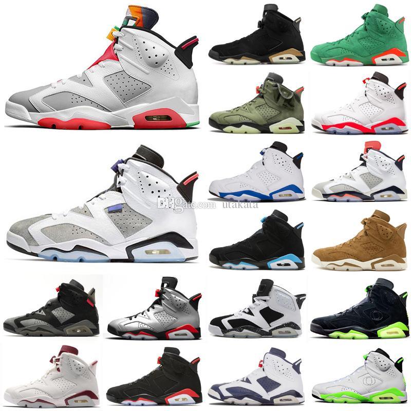 تغسل أحذية عالية الجودة السادس 6 للرجال لكرة السلة هير DMP NEW NEW الدينيم الأسود الأشعة تحت الحمراء ل2019 العاكسة INFRARED الرياضة أحذية رياضية