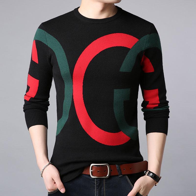 Homens Sweater 2020 Chegada nova Outono e Slim inverno masculino malha pulôver Meninos Adolescentes Estilo coreano Fashion Trends M66