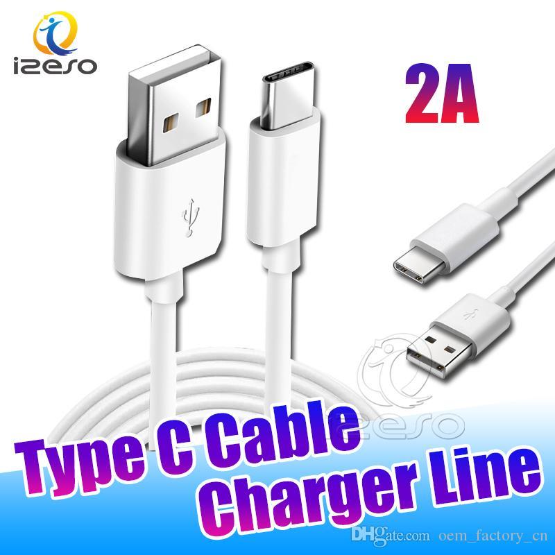 Tipo C USB 2A del caricatore Cavo 3 piedi Cavo linea di carico per Samsung Galaxy S20 Ultra S10 Inoltre A20 Huawei Mate 30 Pro izeso