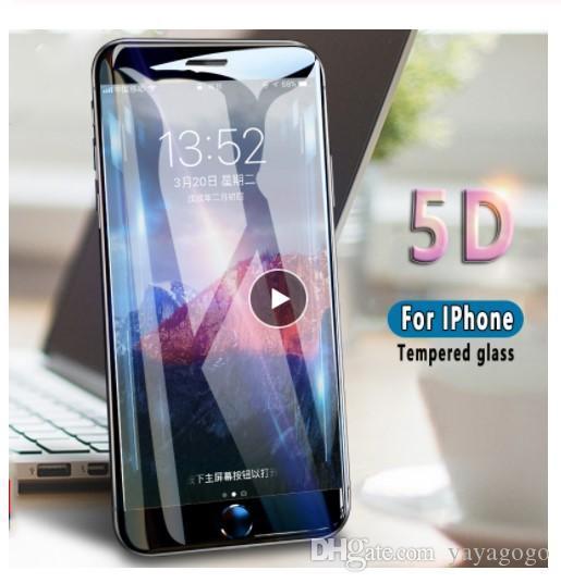 Hotsell 5D Защитные закаленное стекло для iPhone 11 про максимум 6 6s 7 8 Plus Стекло полное покрытие экрана протектор для iPhone X Xs Max ХГ стекла