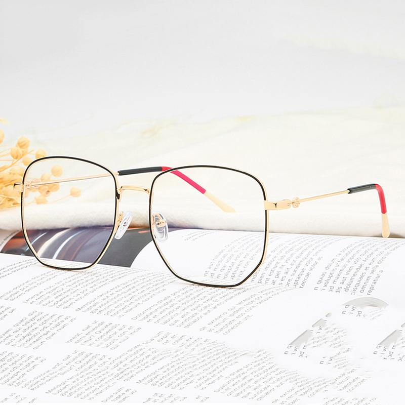 Blue Light Blocking Glasses Retro Metal Frame Anti Blue Ray Computer Glasses Vintage Round Frame Eyewear