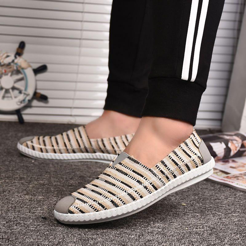 LCXMND Мода льняной мужского холста обувь мужских летние кроссовки без скольжения случайной дышащей обувь Мокасины Chaussure Homme
