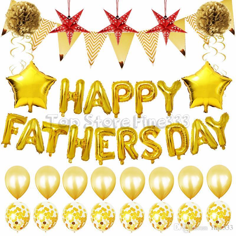 Fête des pères Aluminium Balloon Set 2 Modèles Fathersday Party Supplies Mise en scène Scène DIY Balloon Accessoires Set