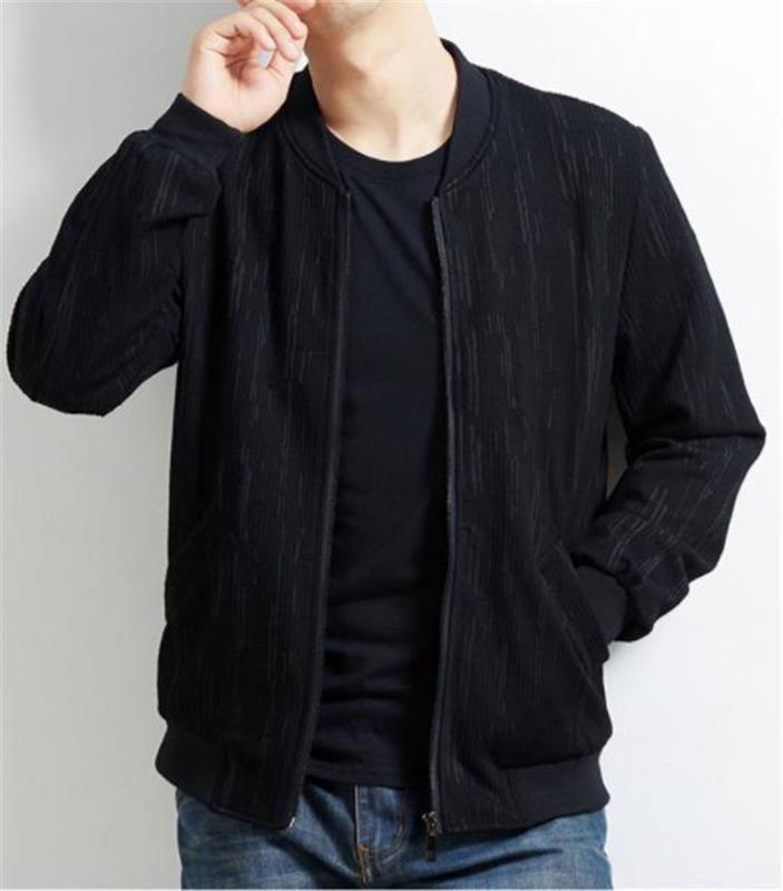 Tasarımcı Ceketler Plus Size Uzun Kollu Erkek Standı Yaka Dış Giyim Erkekler Casual Ceketler Katı Renk Mens