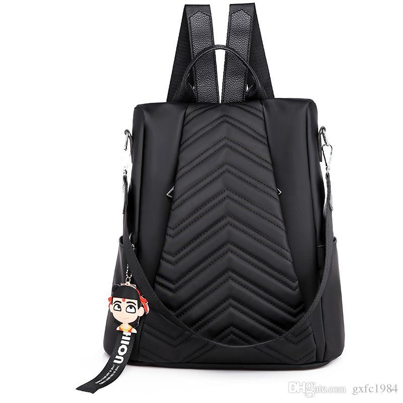Rucksack weiblichen neuen koreanischen Version des Diebstahlschutzes vielseitig einfache Art und Weise rhombischen Schulter Dual-Use-kleinen Rucksack