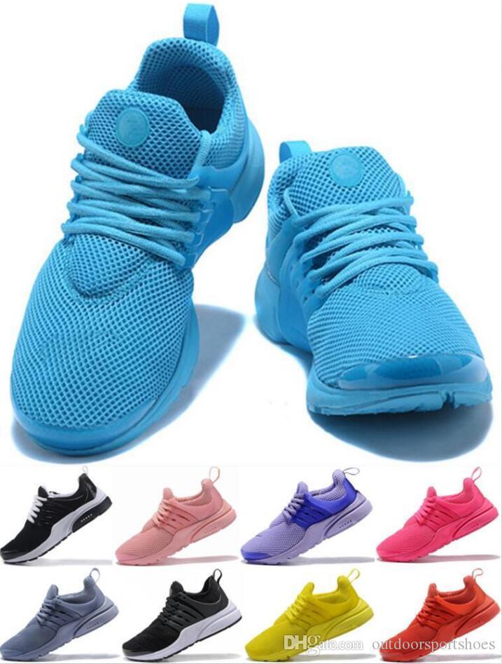2019 Klasik Presto BR QS Bayan Erkek Tasarımcı Ayakkabı Üçlü siyah beyaz Açgözlü Oreo Sarı Kırmızı mavi ucuz Sneakers 36-45 Breathe