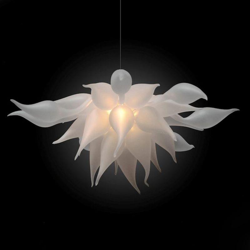 Матовые подвесные светильники белые вздутые стеклянные люстры огни итальянские современные потолочные светильники светодиодные луковицы люстры подвесные светильники для гостиной