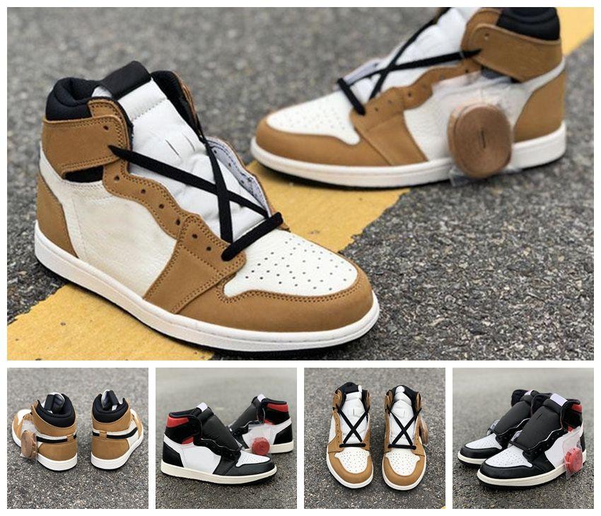 NIKE Jordan 2020 1s alta OG Basketball Shoes Rookie do Ano Toe preto Gym Red Designer Sneakers Top Quality Sport Shoes Tamanho 40-45