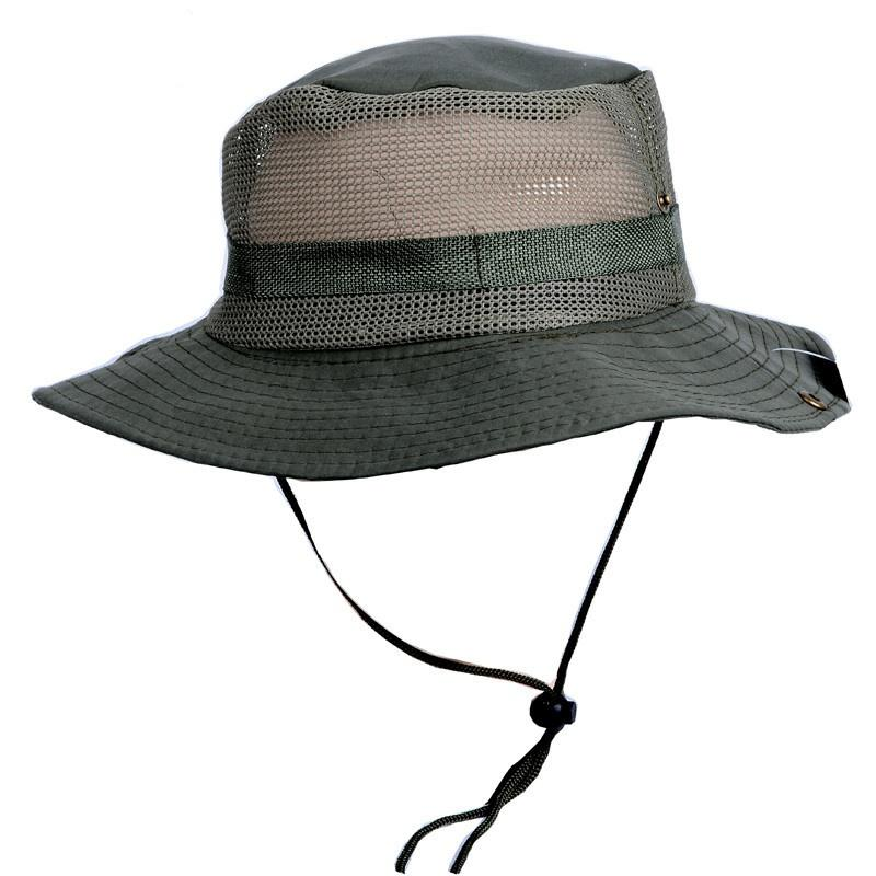 Hot Sun Hat Panama Bucket Flap Hat Breathable Boonie Multicam Nepalese Boonie Camouflage Hats Outdoor Fishing Wide Brim hats