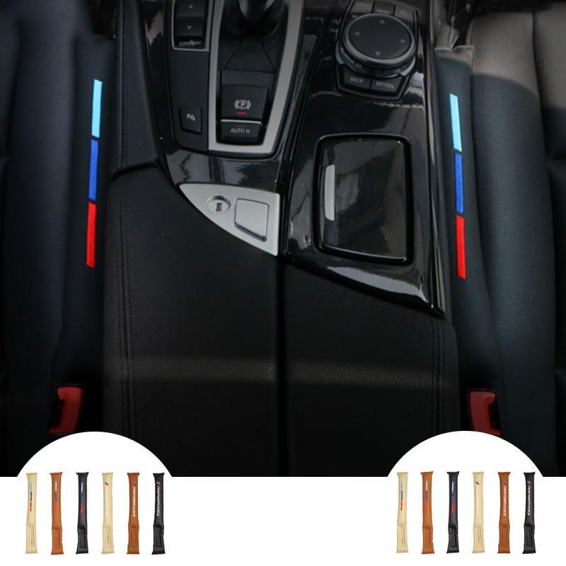 BMW E90 F30 Audi Mercedes Tüm Araçlar için uygundur 2pcs Evrensel UseFaux Deri Oto Koltuk Gap Filler Pad Spacer Depolama Yuvası Fiş