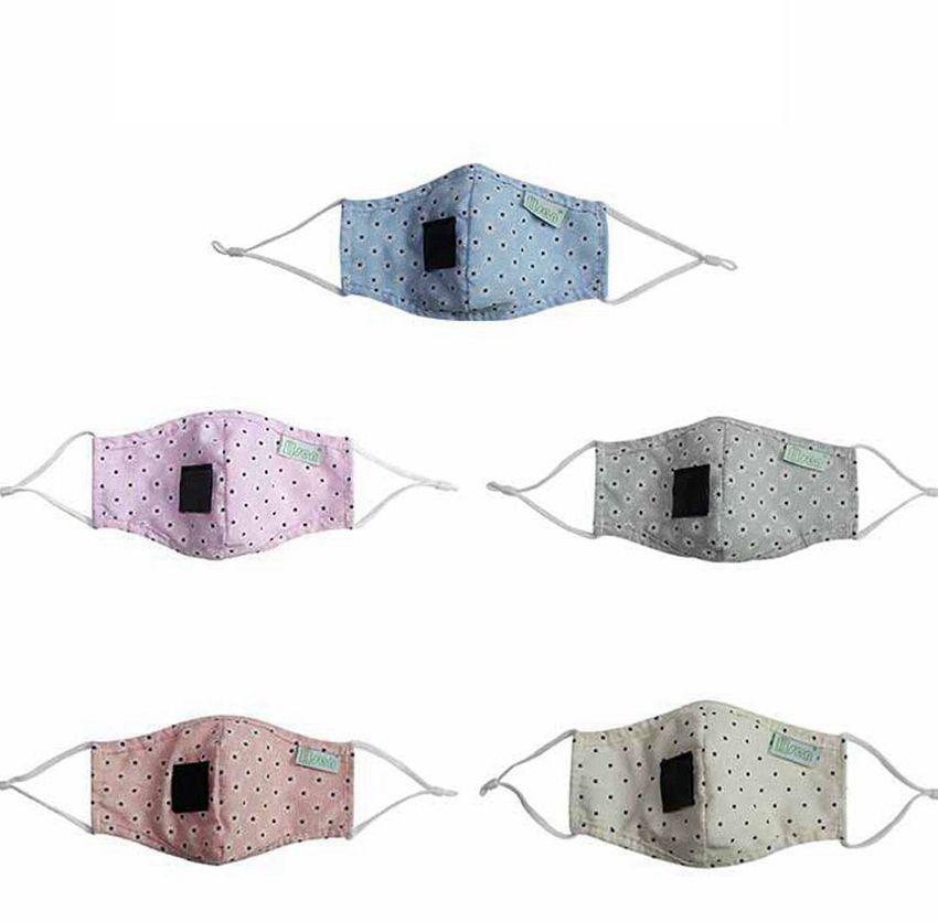 Straw Maske LJJK2364 İçme çocukların yüz maskesi karikatür baskı İçecek Açık Yıkanabilir Tekrar Kullanılabilir Dust için Straw Hole ile Yüz Bandana