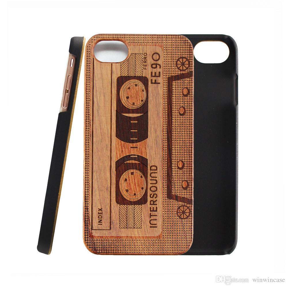 Дешевый деревянный чехол для мобильного телефона iPhone X 6 6s s 7plus 8plus 8 plus деревянный жесткий ПК задняя крышка мобильного телефона