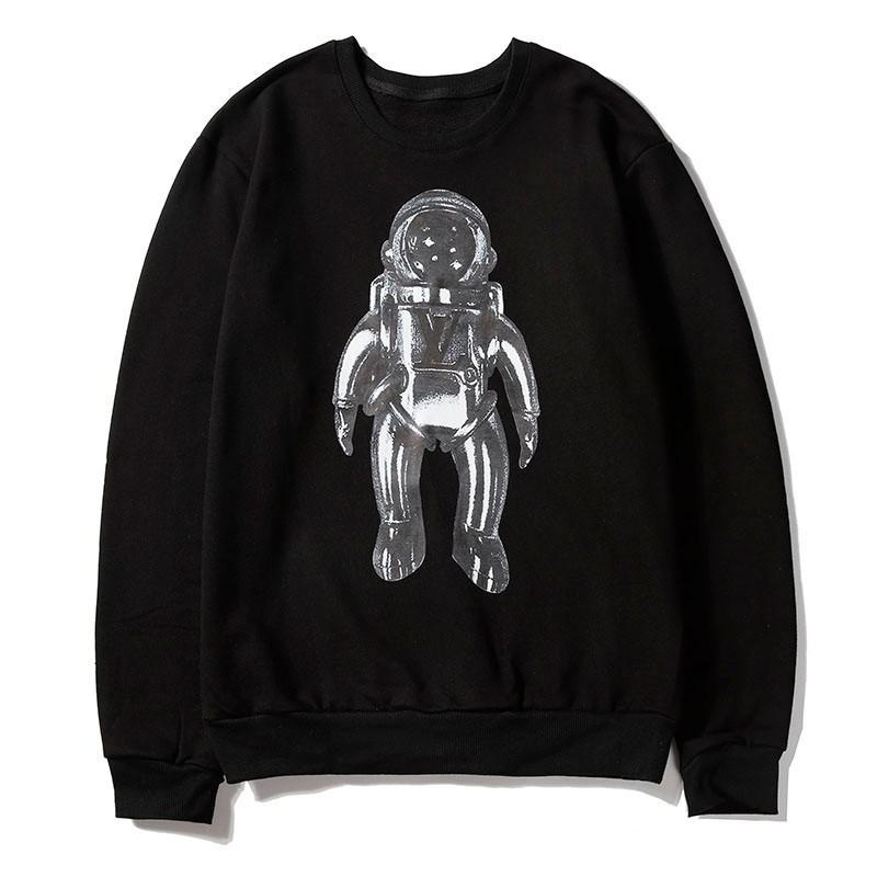Mens Designer Speater Heavy Metal Spaceman Print Pullover tendance pour hommes