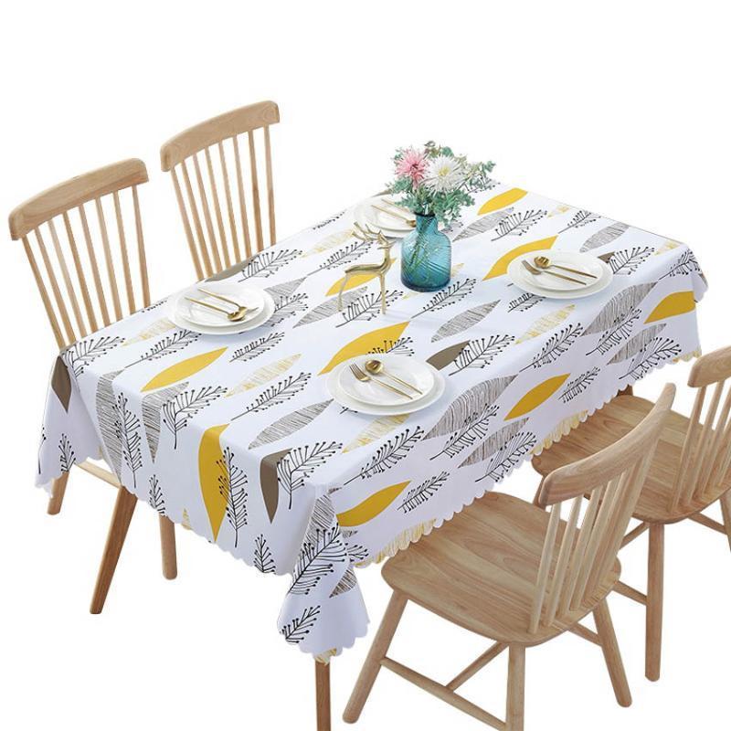 PVC مقاوم للماء مفارش المائدة النباتي الرعوي الجدول القماش خلفية القماش الجدول البلاستيك ديكور المنزل Manteles Toalha دي ميسا