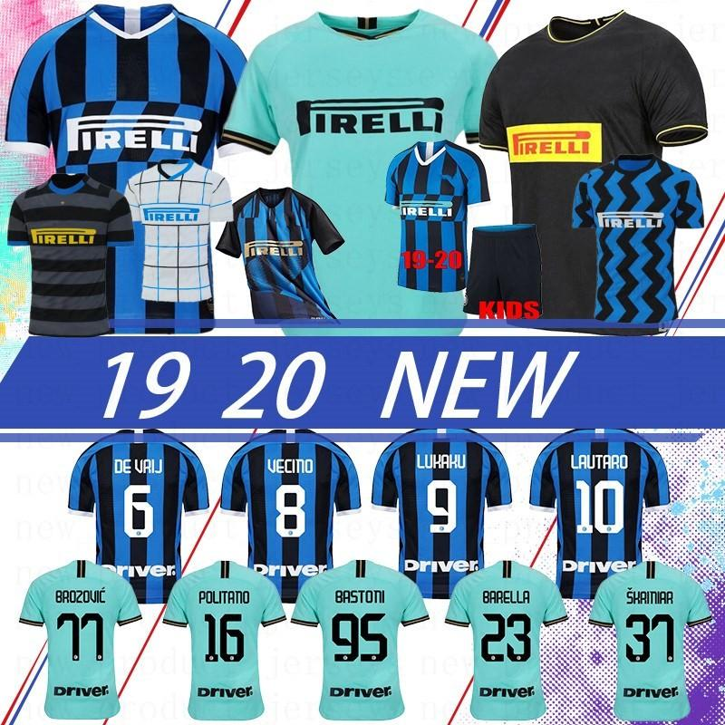 Tay Alexis Lukaku Lautaro Skriniar 2021 Milan Futbol Forması Calcio Godin Barella Formalar Futbol Üst Gömlek Custom Made Erkekler Çocuklar