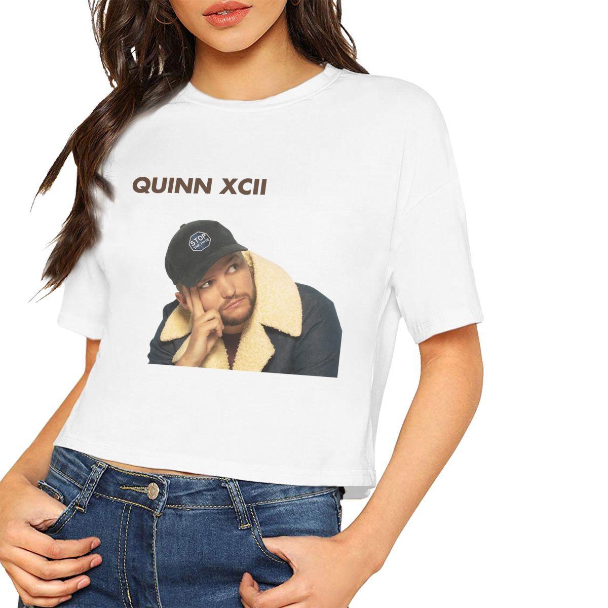 XCII Damen-T-Shirts bauchfreies beiläufige Sweatshirts Multi Neuheit Kleidung NEW Kurzarm Baumwolle T-Verschiffen Freie