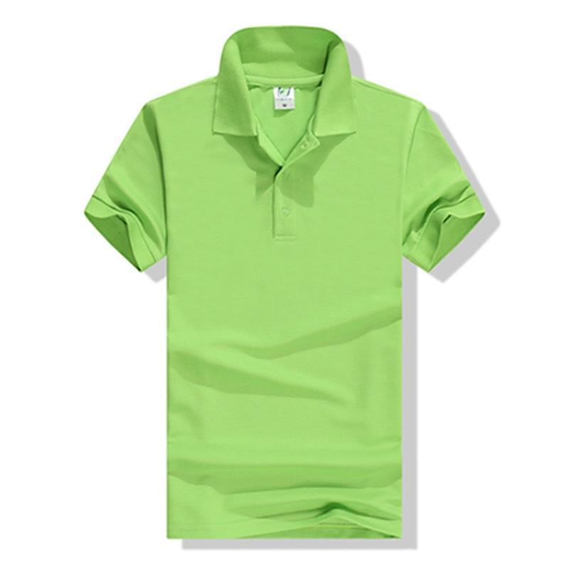Polo T-shirt Classe Uniforme Lettered Logo Work Clothes Cultural Publicidade shirt do partido de manga curta equipe DIY