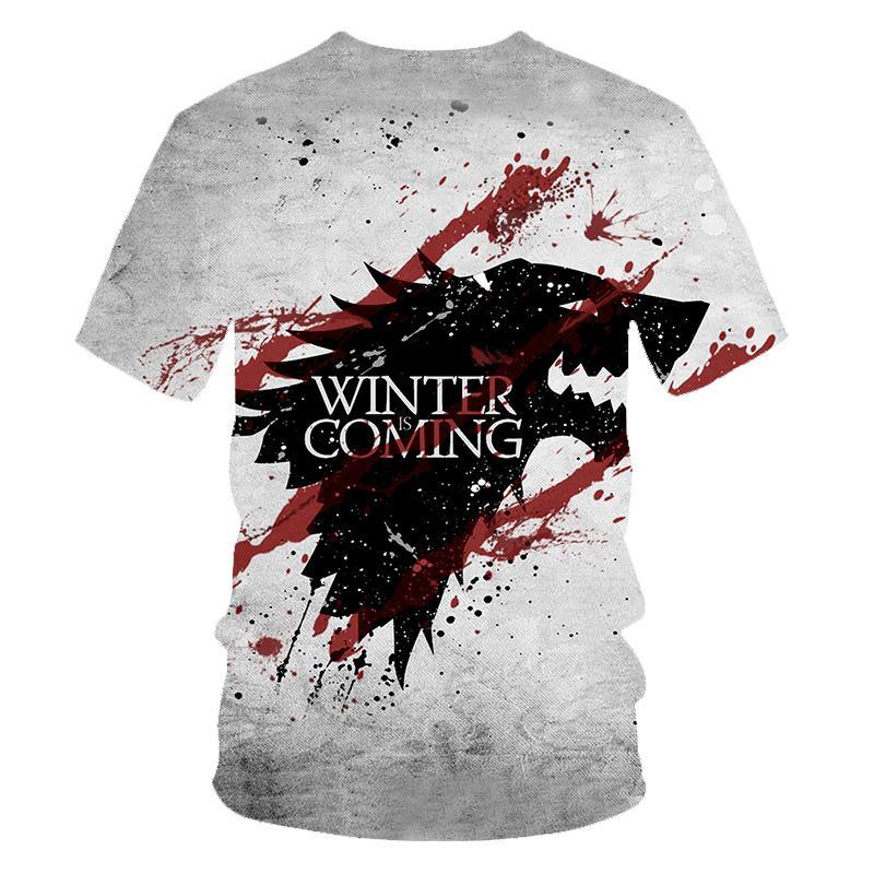 Mens King of Dragons 3D T Shirt Short Sleeve