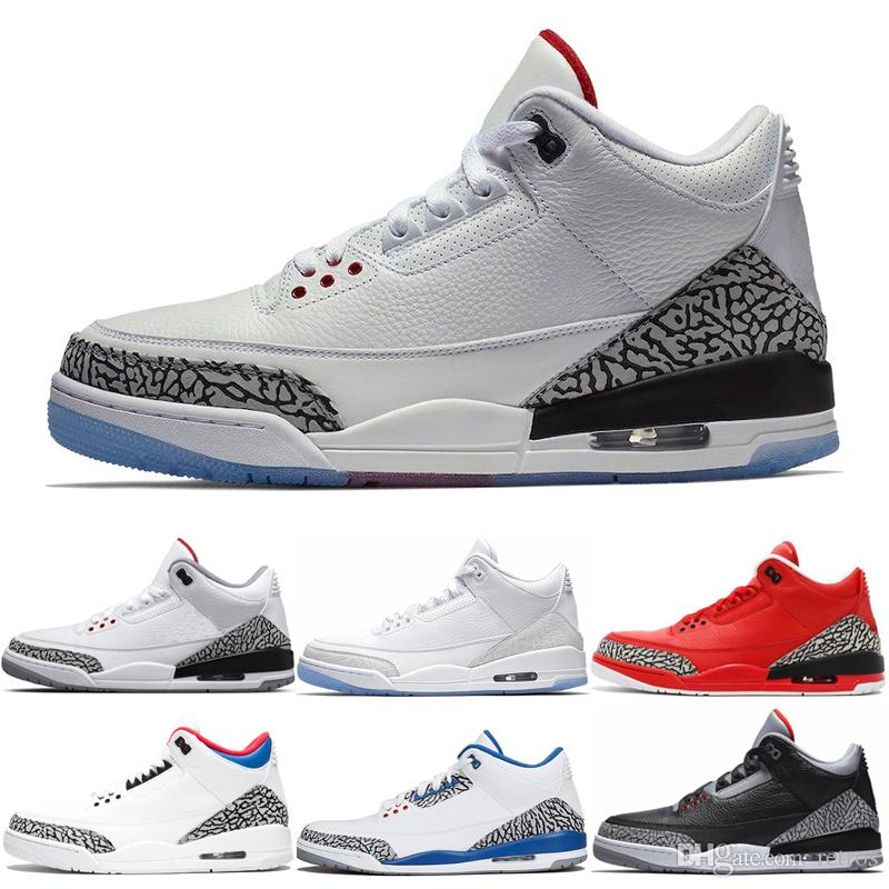 Mens Basketball Shoes Hot uomini True Blue nero Cemento JTH tiro libero linea Pure White Grateful QS Sport Katrina Trianer Snekaers