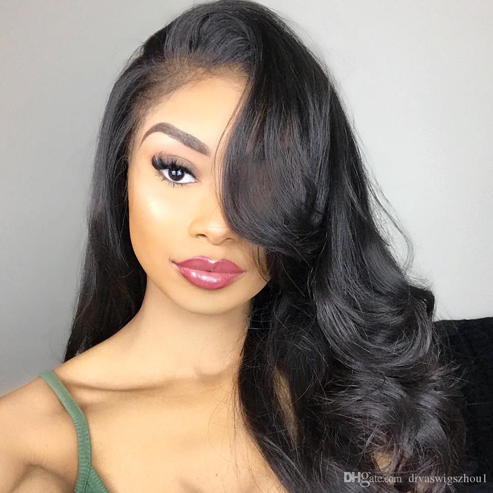 360 de encaje del cuerpo humano peluca de cabello frontal onda corta brasileño completo largo pelucas delanteras del cordón para las mujeres negras onduladas suelta la onda de 32 pulgadas