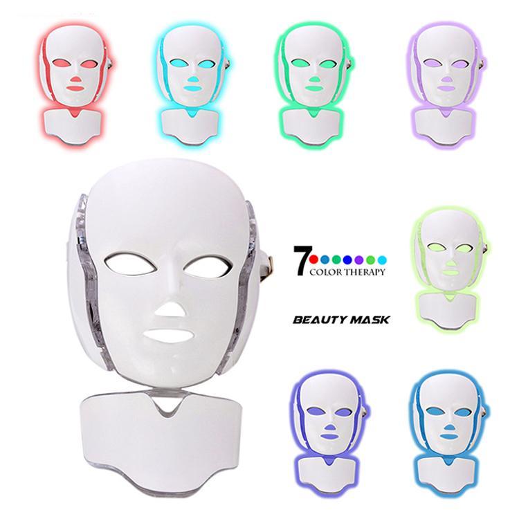 الألوان فوتون PDT بقيادة قناع الوجه LED الوجه والرقبة قناع PDT LED العلاج بالضوء مع BIO مكركرنت لتجديد الجلد مكافحة الشيخوخة