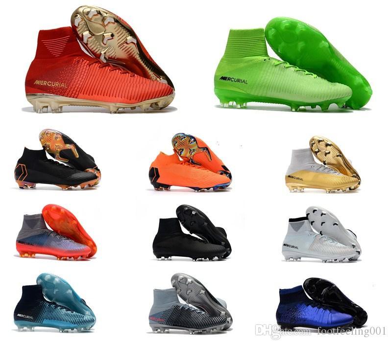حار بيع الأصل النمط الكلاسيكي زئبقي ال superfly V TF IC FG كرة القدم أحذية في الهواء الطلق الرجال FG كرة القدم أحذية كرة القدم المرابط FG